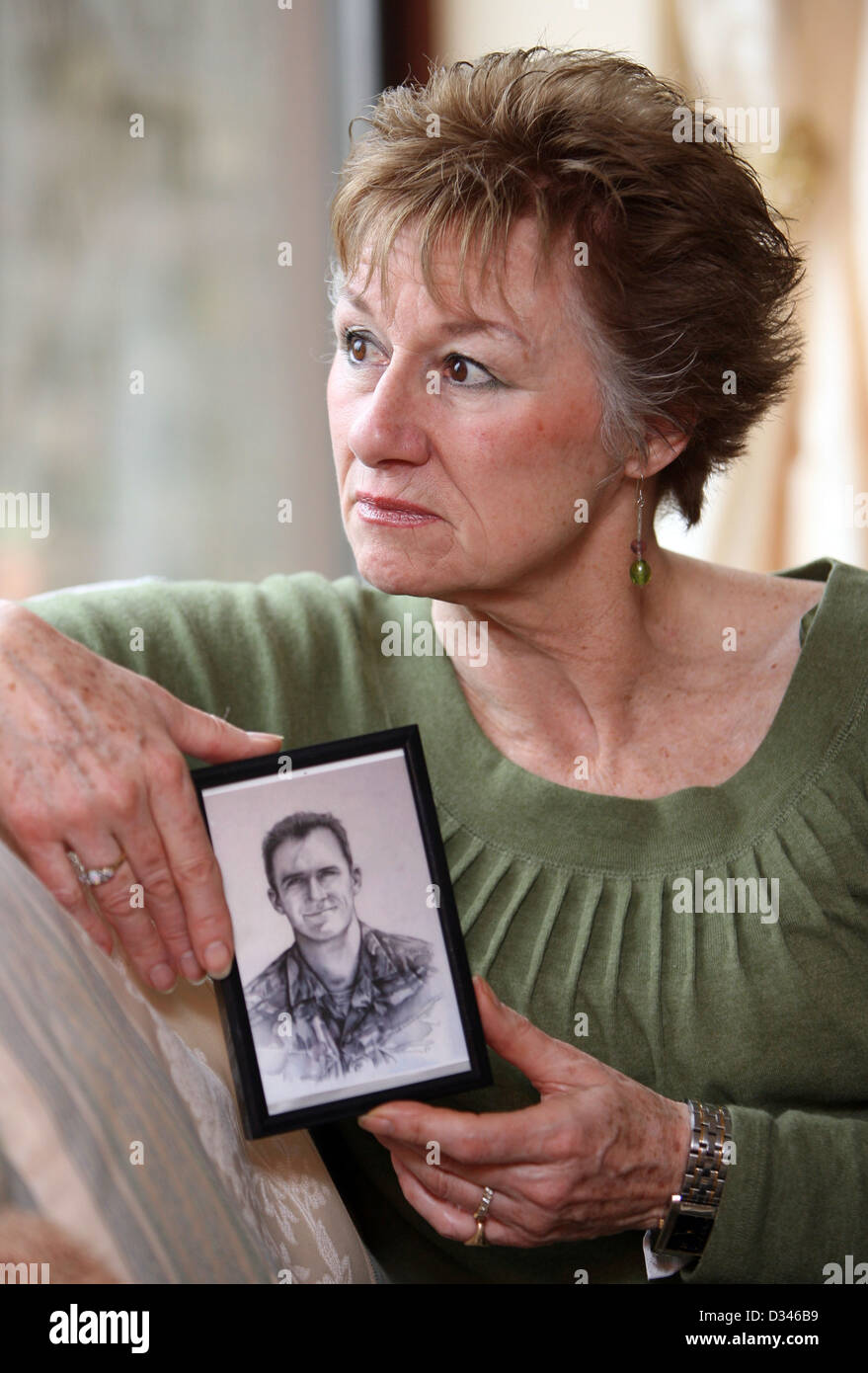 Carol Wright, mother of the late SAS soldier Dan Wright - Stock Image