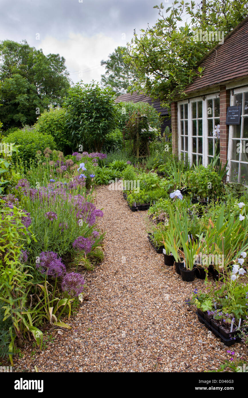 Traditional house and garden, Kent. Stock Photo