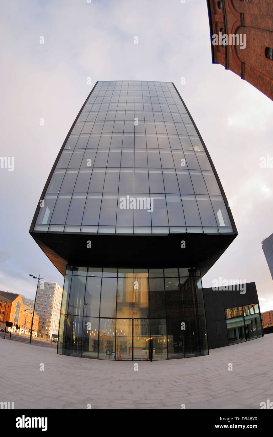 New commercial building on Mann Island situated on the Liverpool waterfront. Stock Photo
