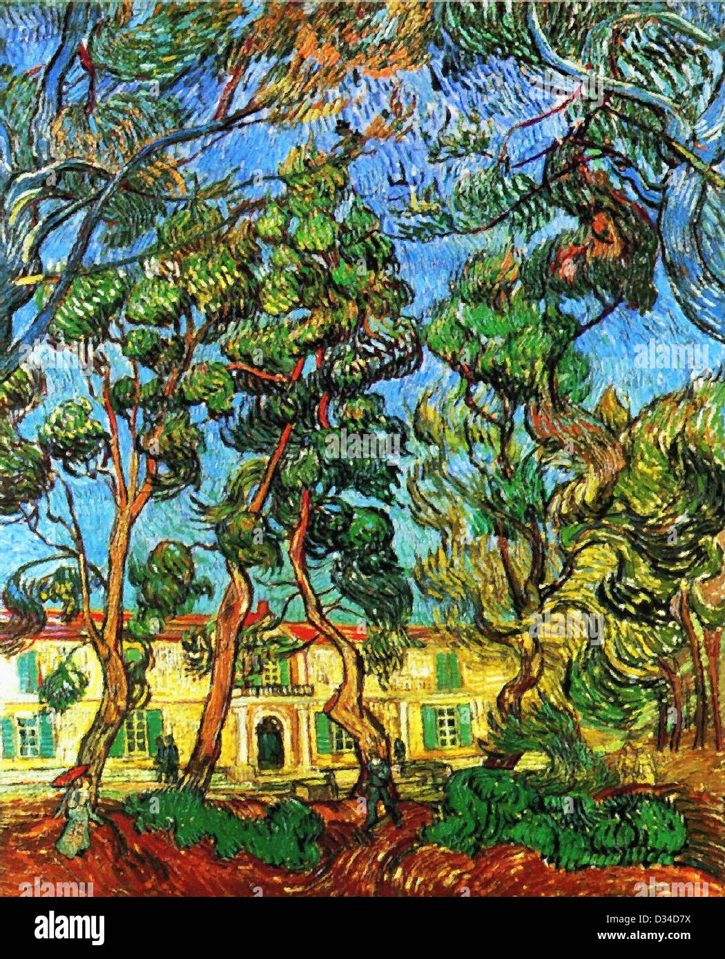 Vincent van Gogh, The Grounds of the Asylum. 1889. Post-Impressionism. Oil on canvas. Armand Hammer Museum of Art - Stock Image