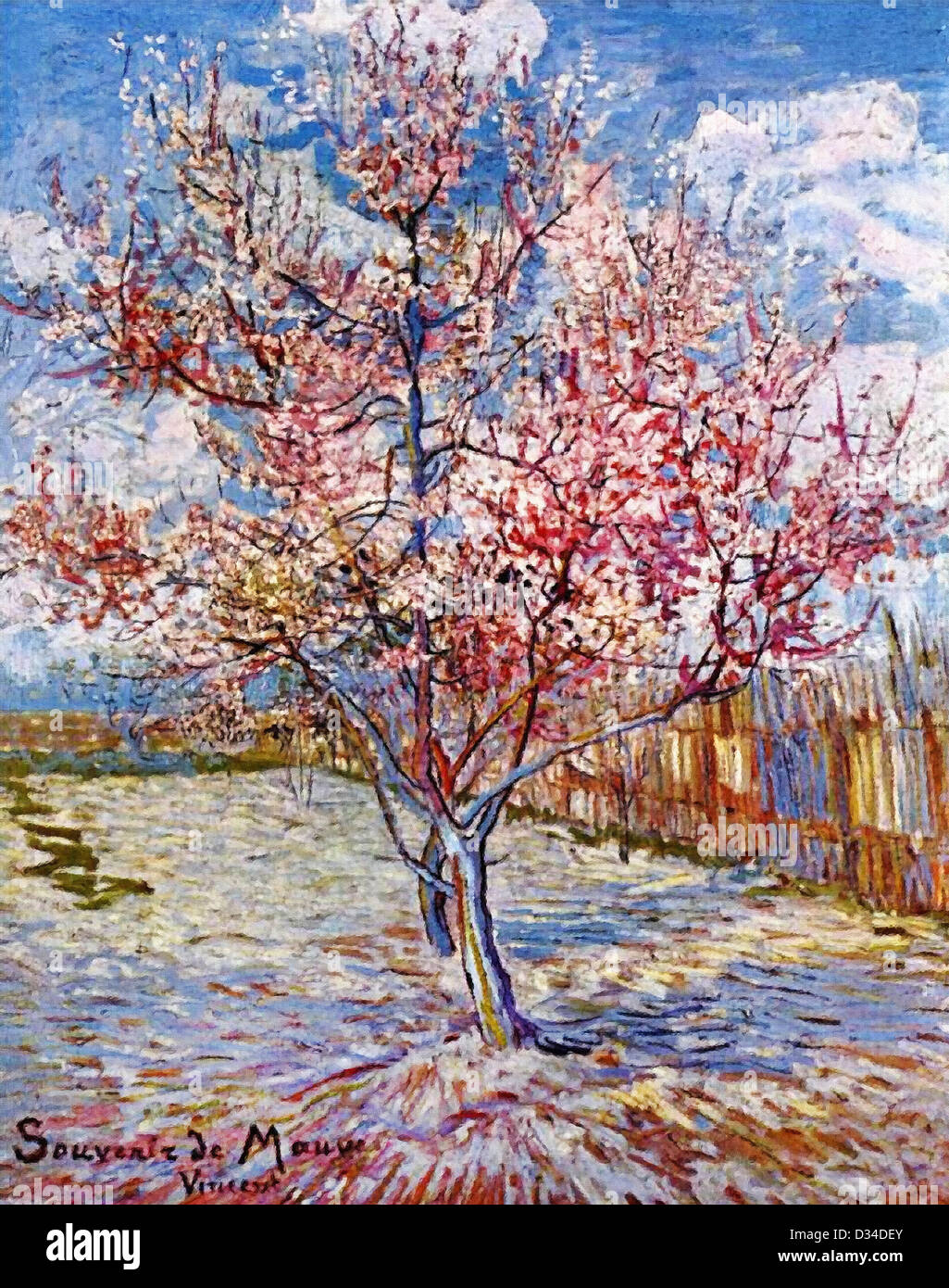 Vincent van Gogh: Peach Tree in Bloom (in memory of Mauve). 1888. Oil on canvas. Rijksmuseum Kröller-Müller, - Stock Image