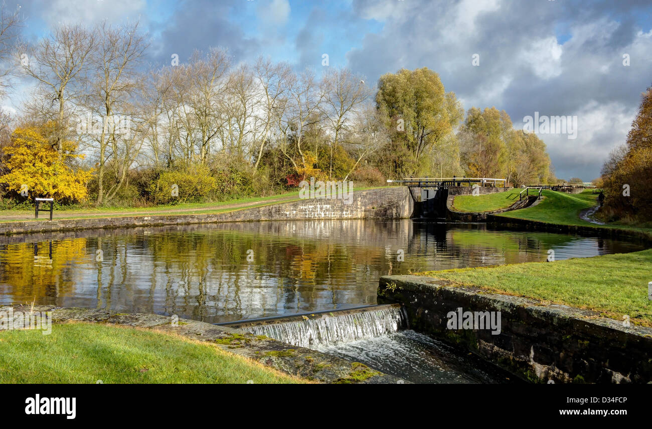 Wigan Locks and Weir - Stock Image