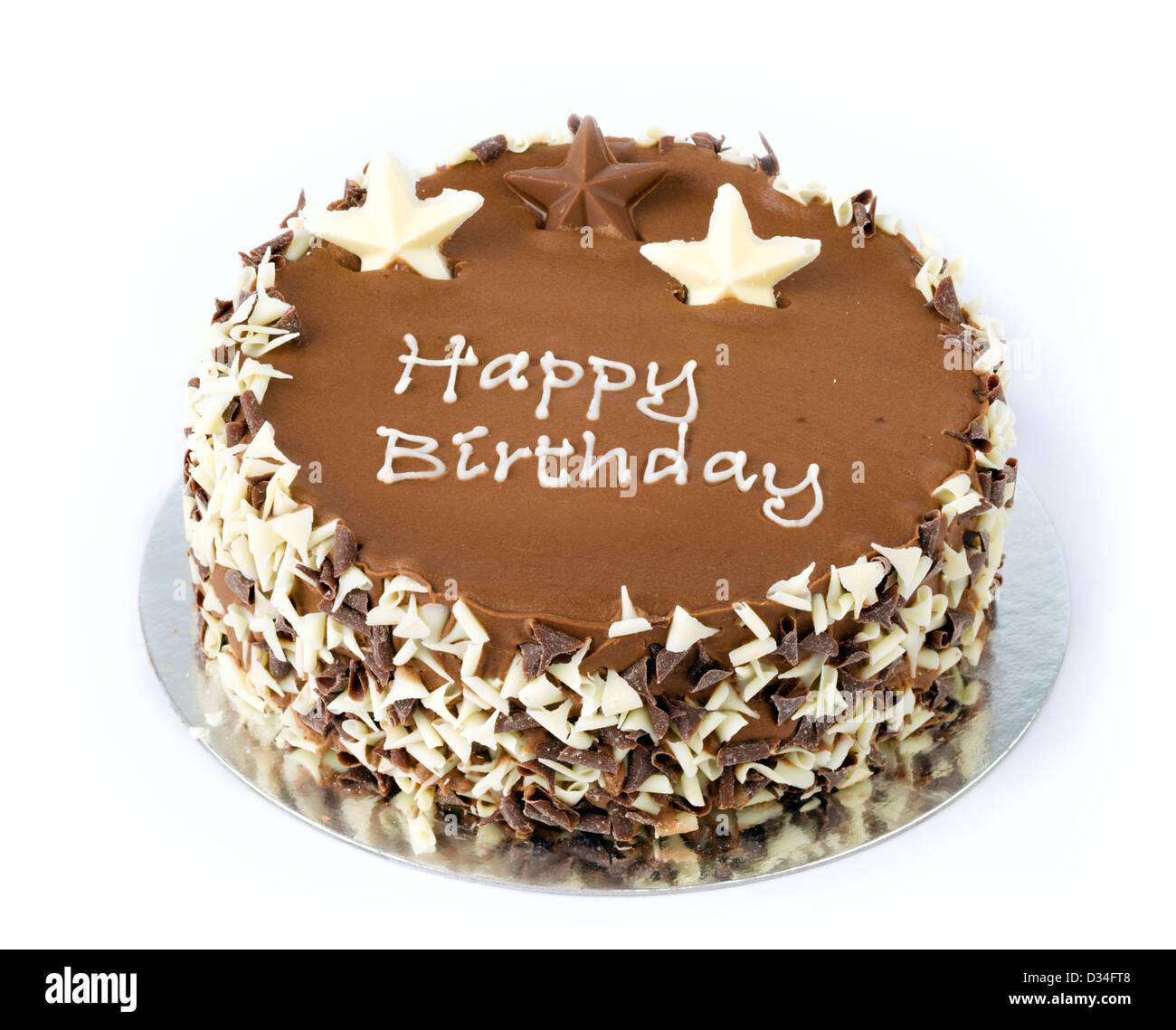 Chocolate Birthday Cake Stock Photo 53575320