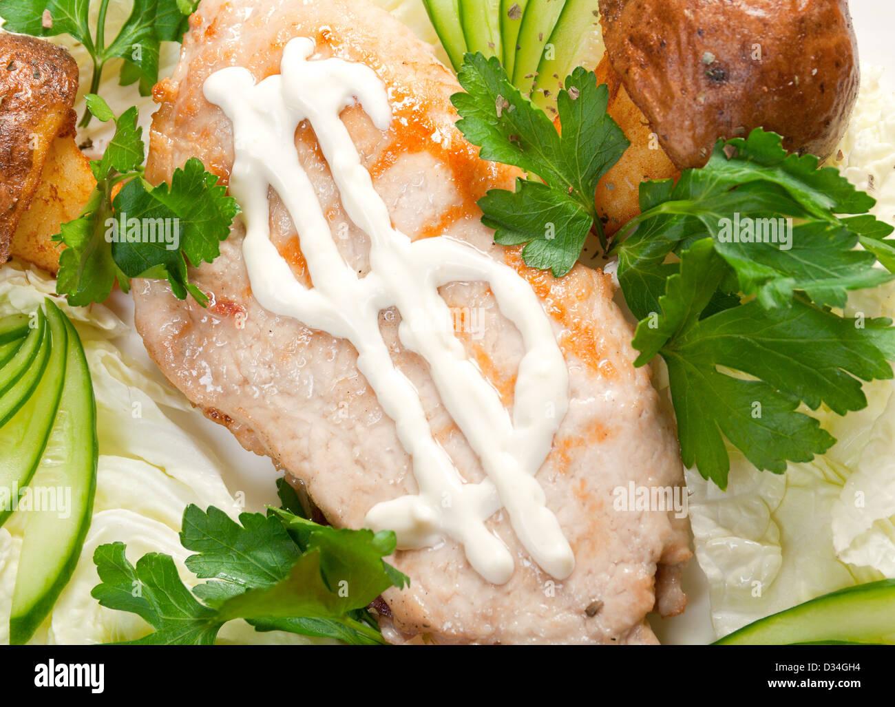 porks Roast.Italian cuisine - Stock Image
