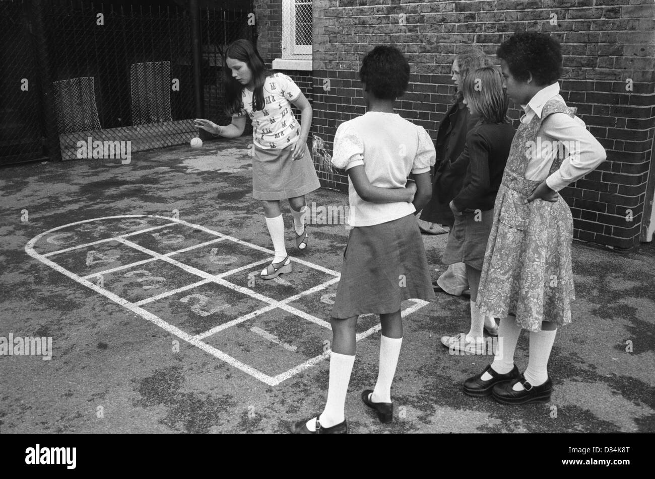 Junior School Children Playing Playground Games South