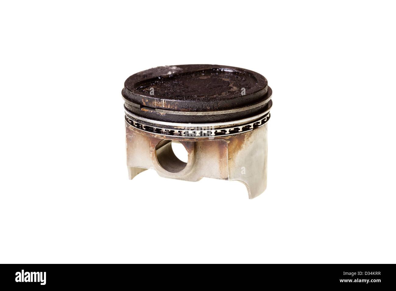 Engine piston deposits - Stock Image