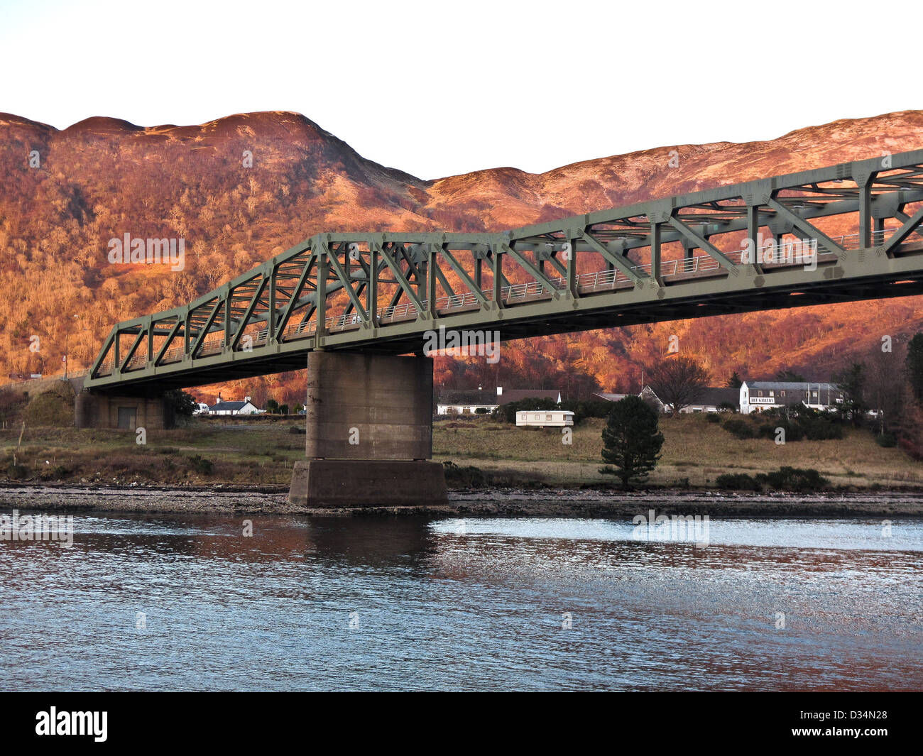 The Ballachulish bridge in the west highlands of Scotland, near Fort William and Glencoe - Stock Image