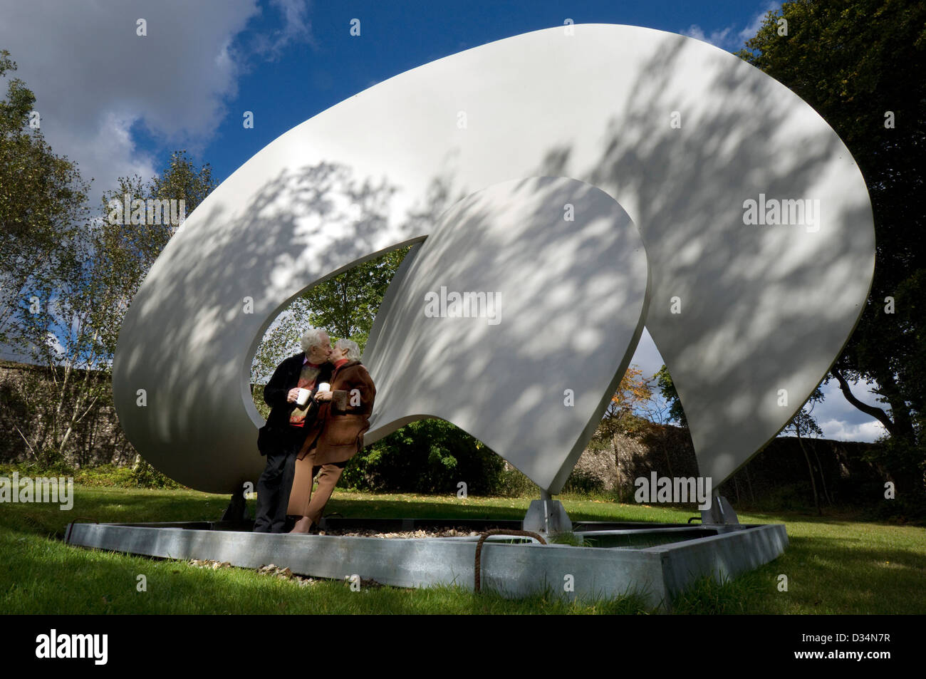 Wilfred and Jeamette  Cass. founders of the Cass Sculpture Foundation, also known as Sculpture at Goodwood. - Stock Image
