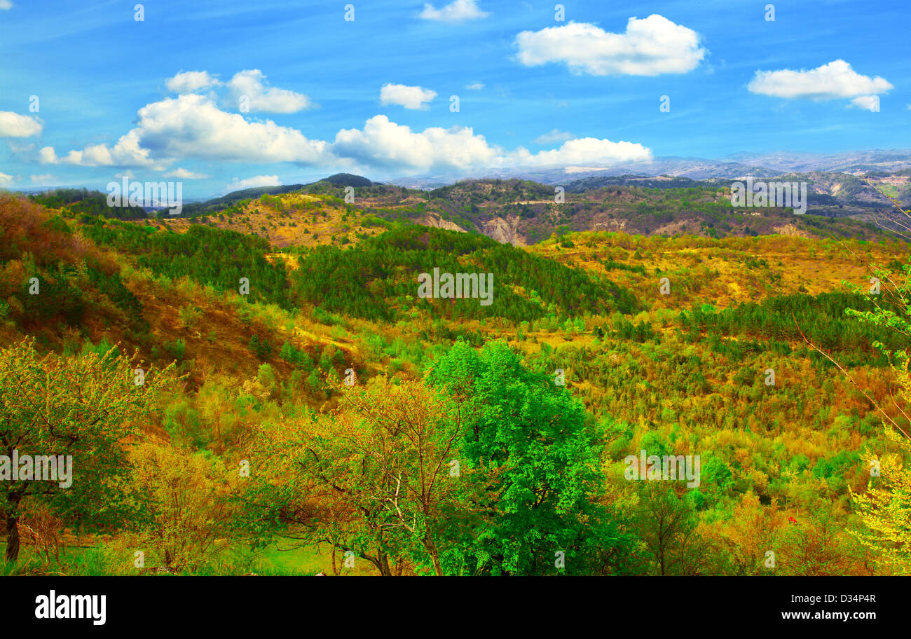 Photo of the Istrian part of the landscape. Adriatic coast. croatia - Stock Image
