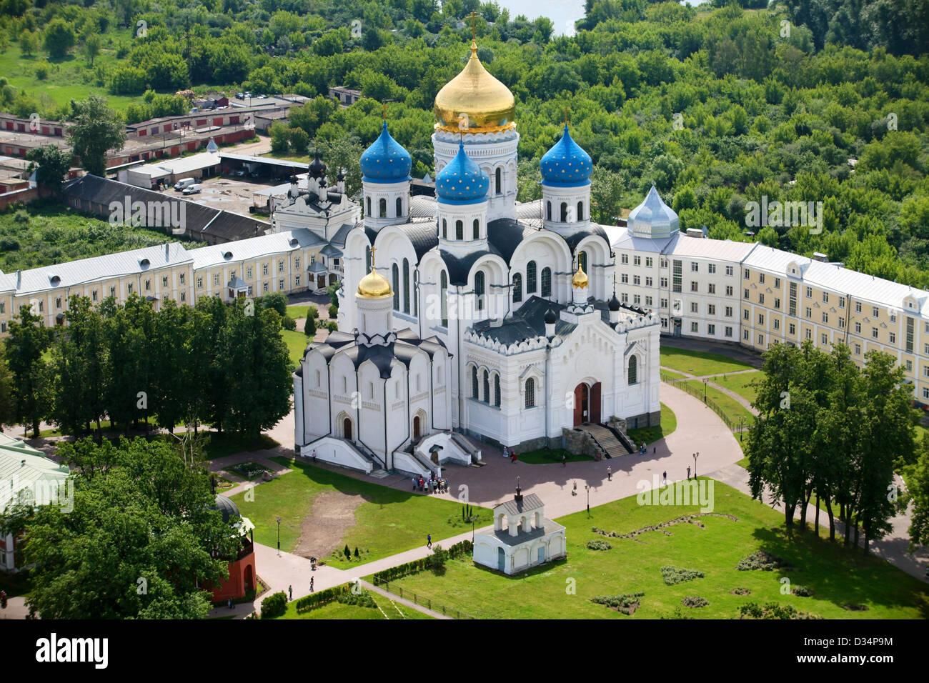 top view of Nikolo-Ugreshsky monastery in Moscow region city Dzerzhinky - Stock Image