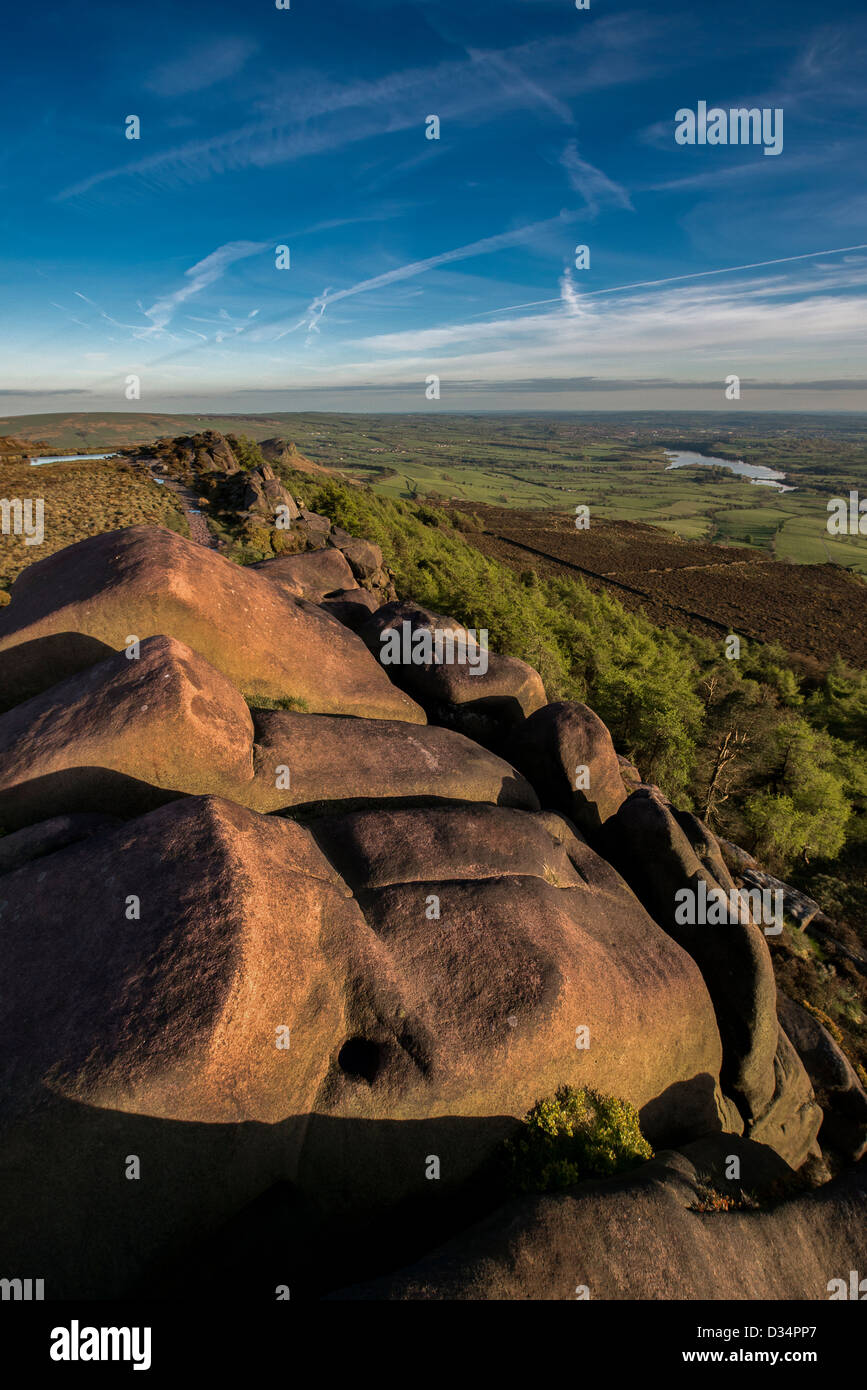 The Roaches Staffordshire Moorlands Peak District National Park - Stock Image