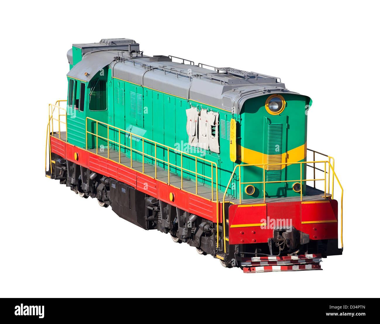 locomotive industrial on white background - Stock Image