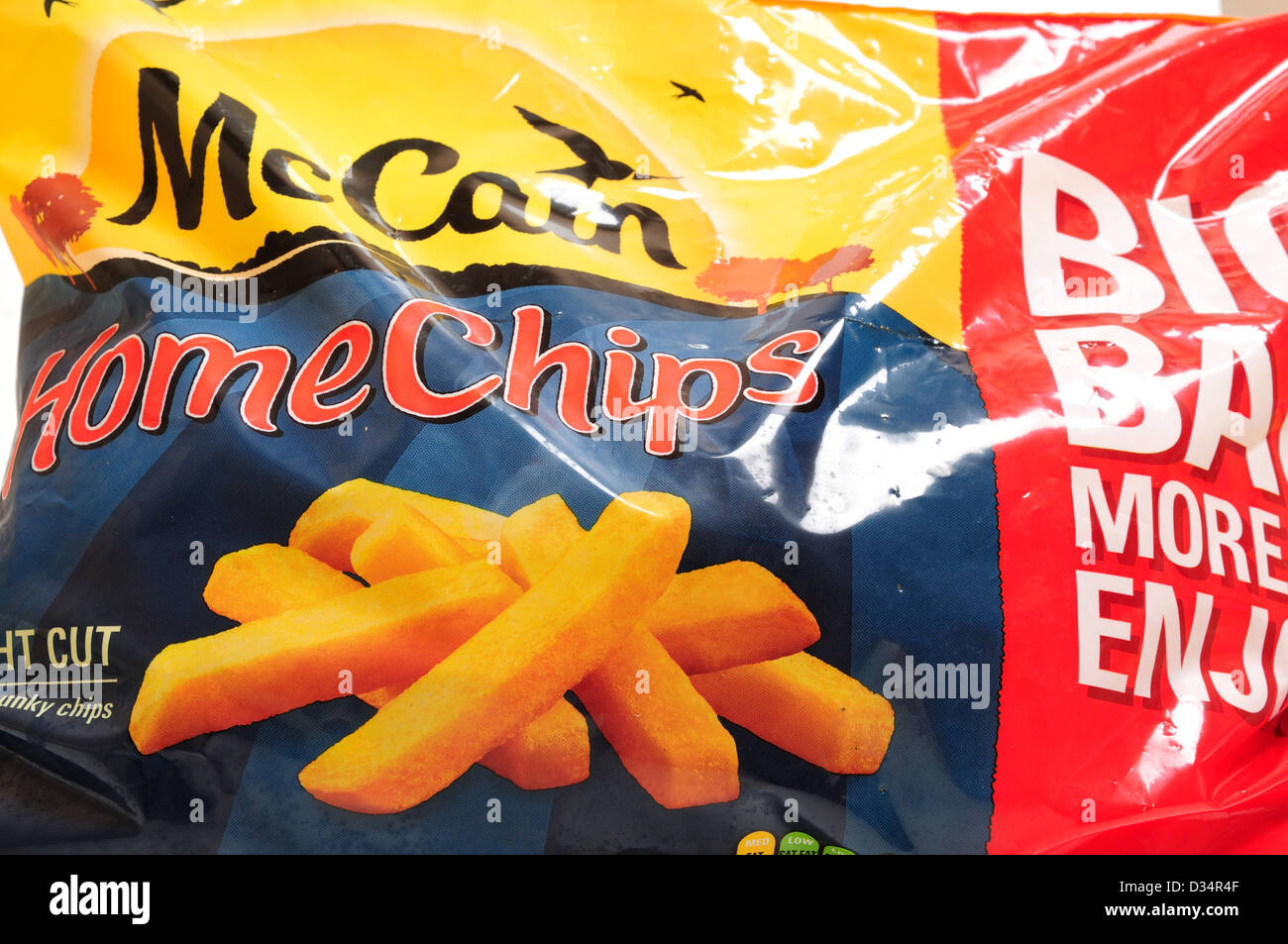 McCain Frozen Oven Chips Stock Photo: 53581039 - Alamy