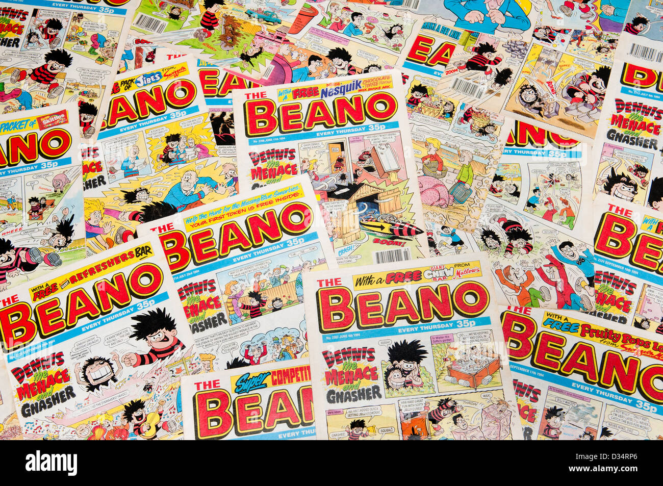 A collection of Beano comics - Stock Image