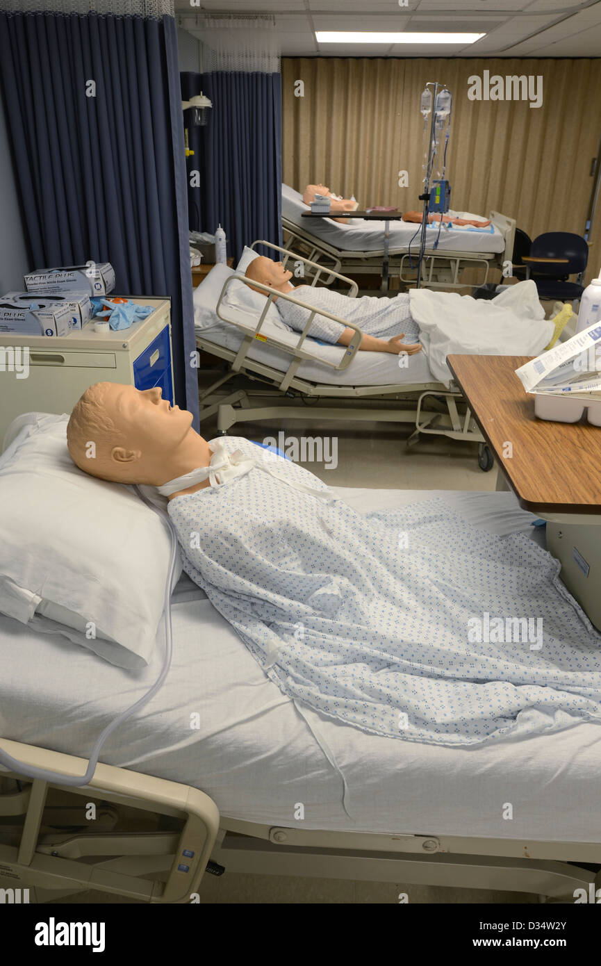 Medical School Hospital Simulation Room - Stock Image