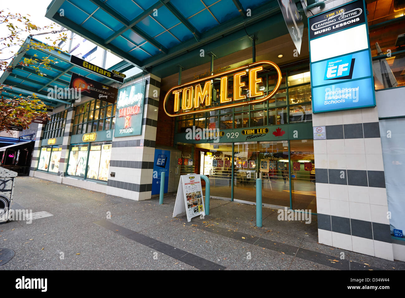 tom lee music store Vancouver BC Canada - Stock Image