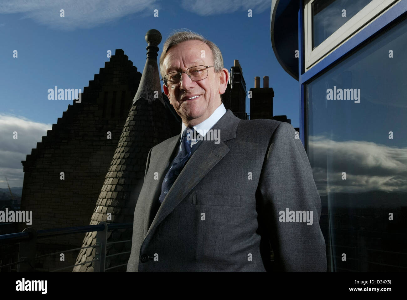 Sir Kenneth Morrison CBE is the Life President and former chairman of Morrisons (Wm Morrison Supermarkets PLC). - Stock Image