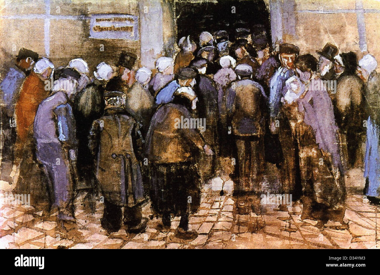 Vincent van Gogh, The State Lottery. 1882. Realism. Oil on canvas. Van Gogh Museum, Amsterdam, Netherlands. - Stock Image