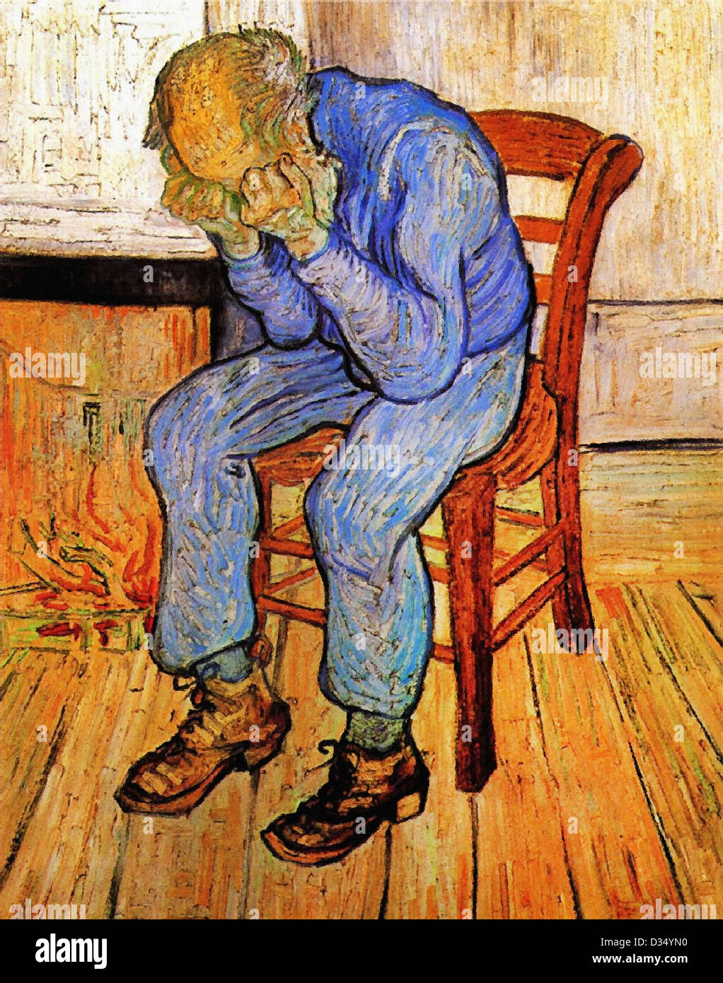 Vincent van Gogh, Old Man in Sorrow (On the Threshold of Eternity). 1890. Post-Impressionism. Oil on canvas. - Stock Image