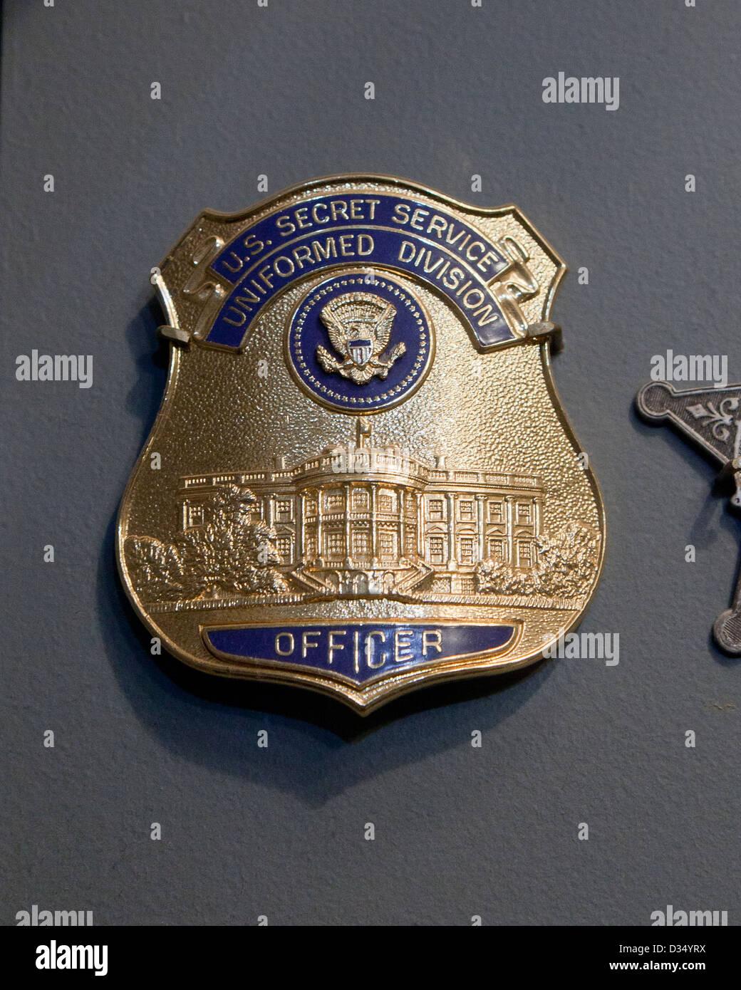 Vintage Secret Service badge - Stock Image