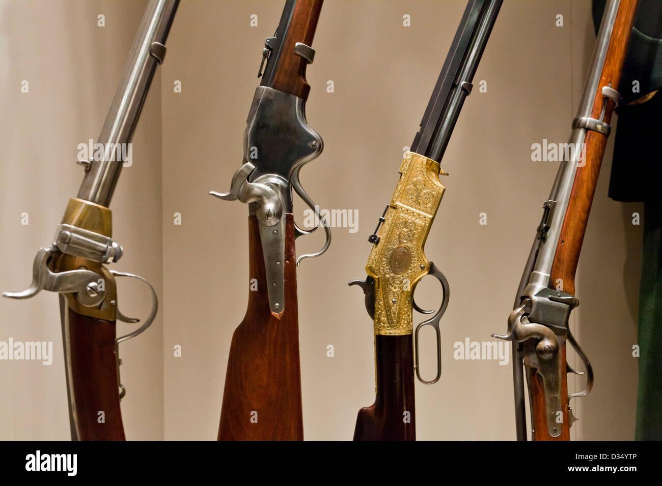 American Civil War era rifles - Stock Image