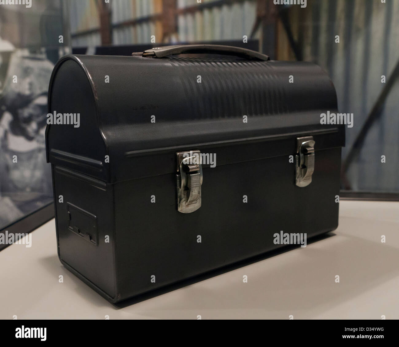 WWII era Worker's lunchbox - Stock Image