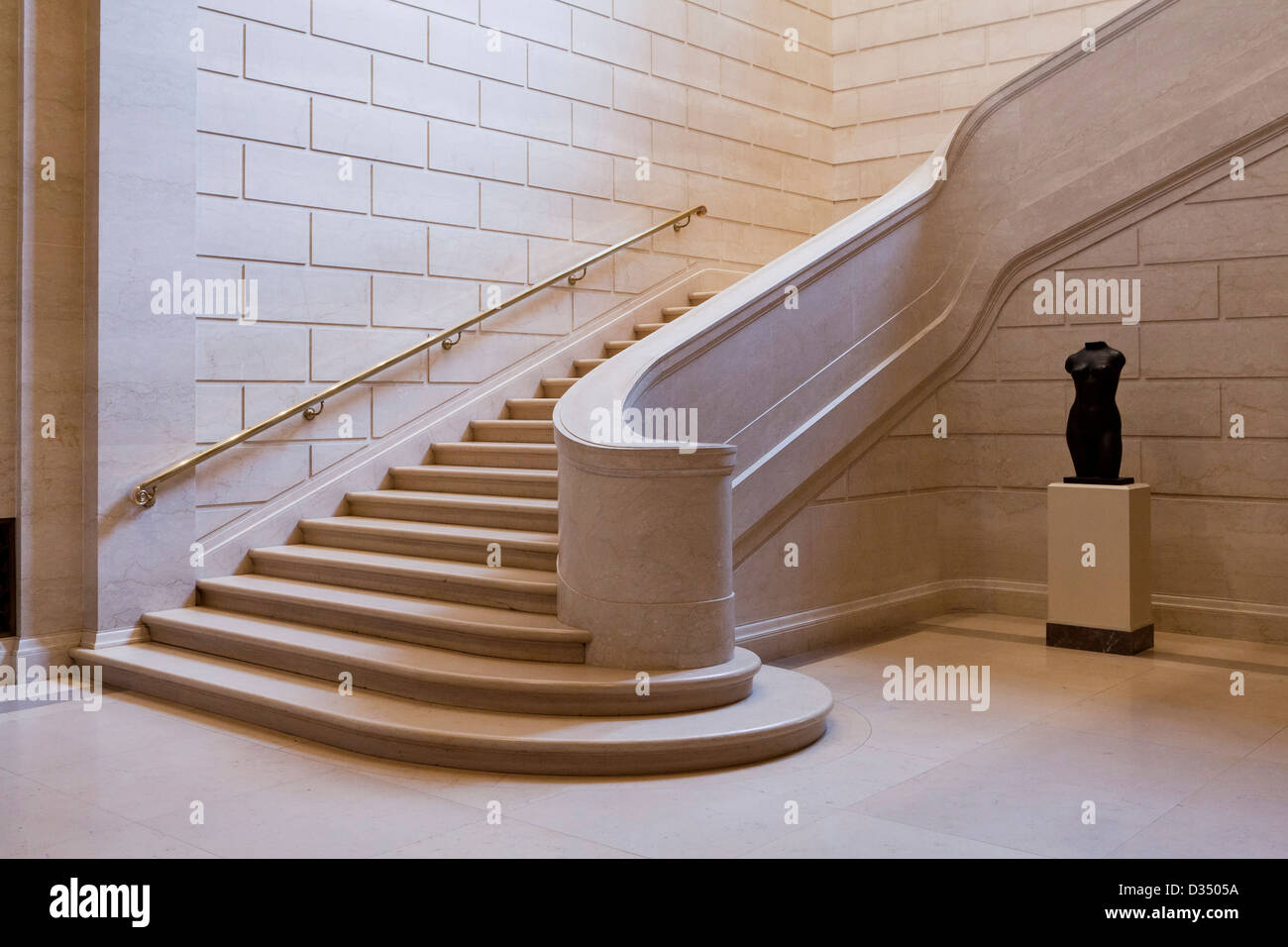 Marble stairs - Stock Image