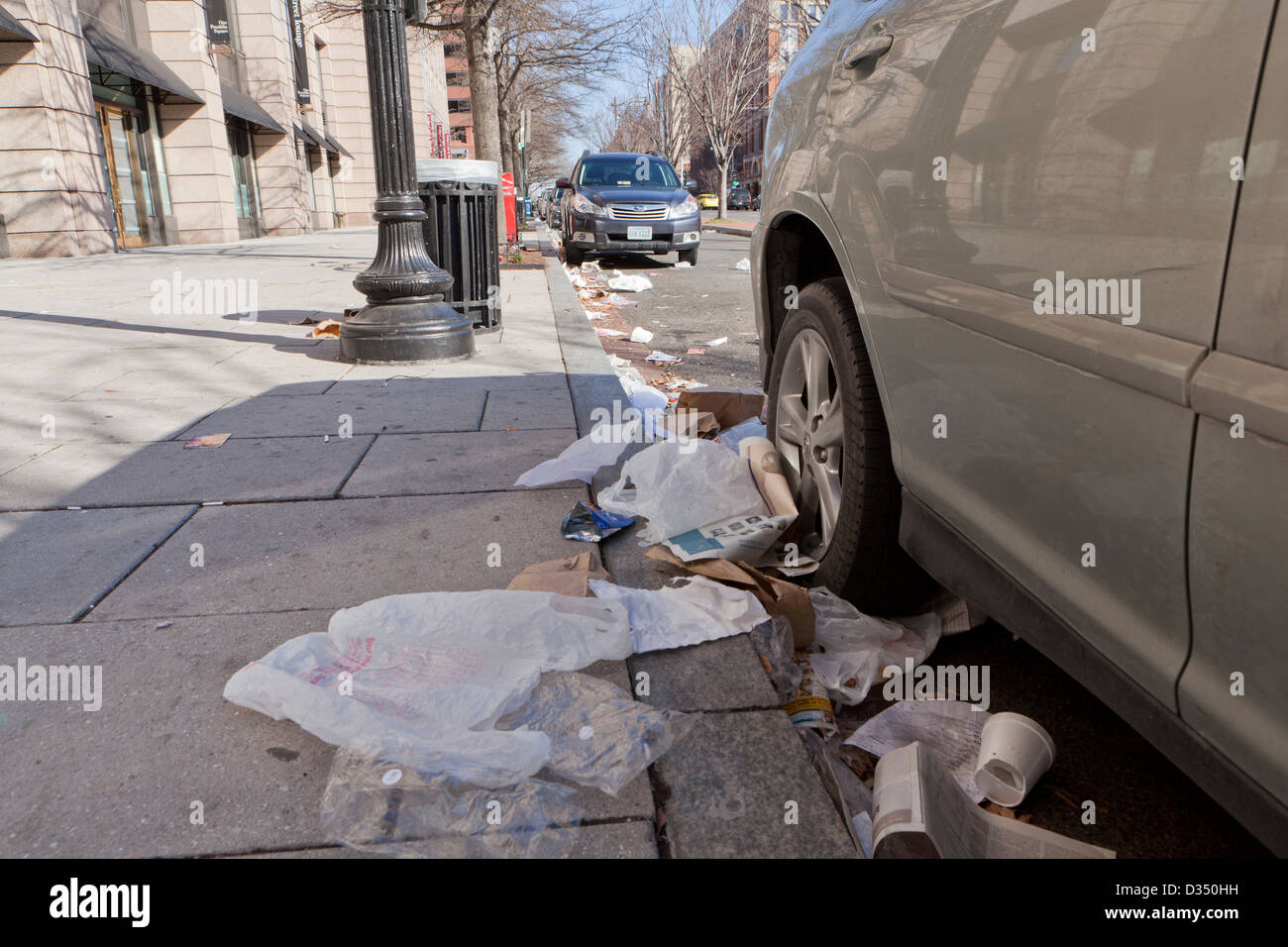 Roadside litter - USA - Stock Image