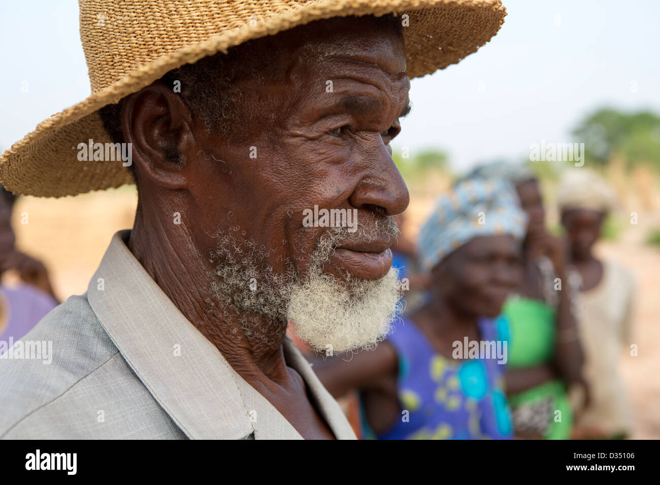 Reo, Burkina Faso, May 2012:  A community elder - Stock Image