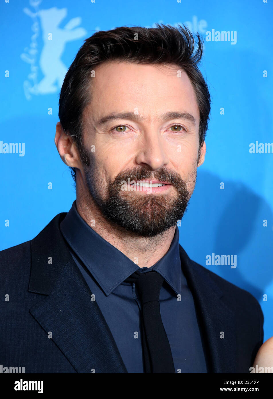 Actor Hugh Jackman poses at the photocall of 'Les Miserables' during the 63rd annual Berlin International - Stock Image