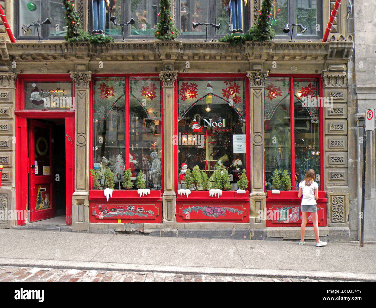 noel eternel a montreal canada christmas store photographed in august stock image - Noel Christmas Store