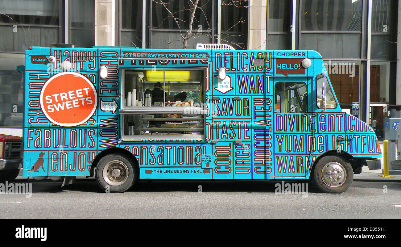 Street Sweets Food Truck On West 50th Between 7th Ave Ave Of The Stock Photo Alamy