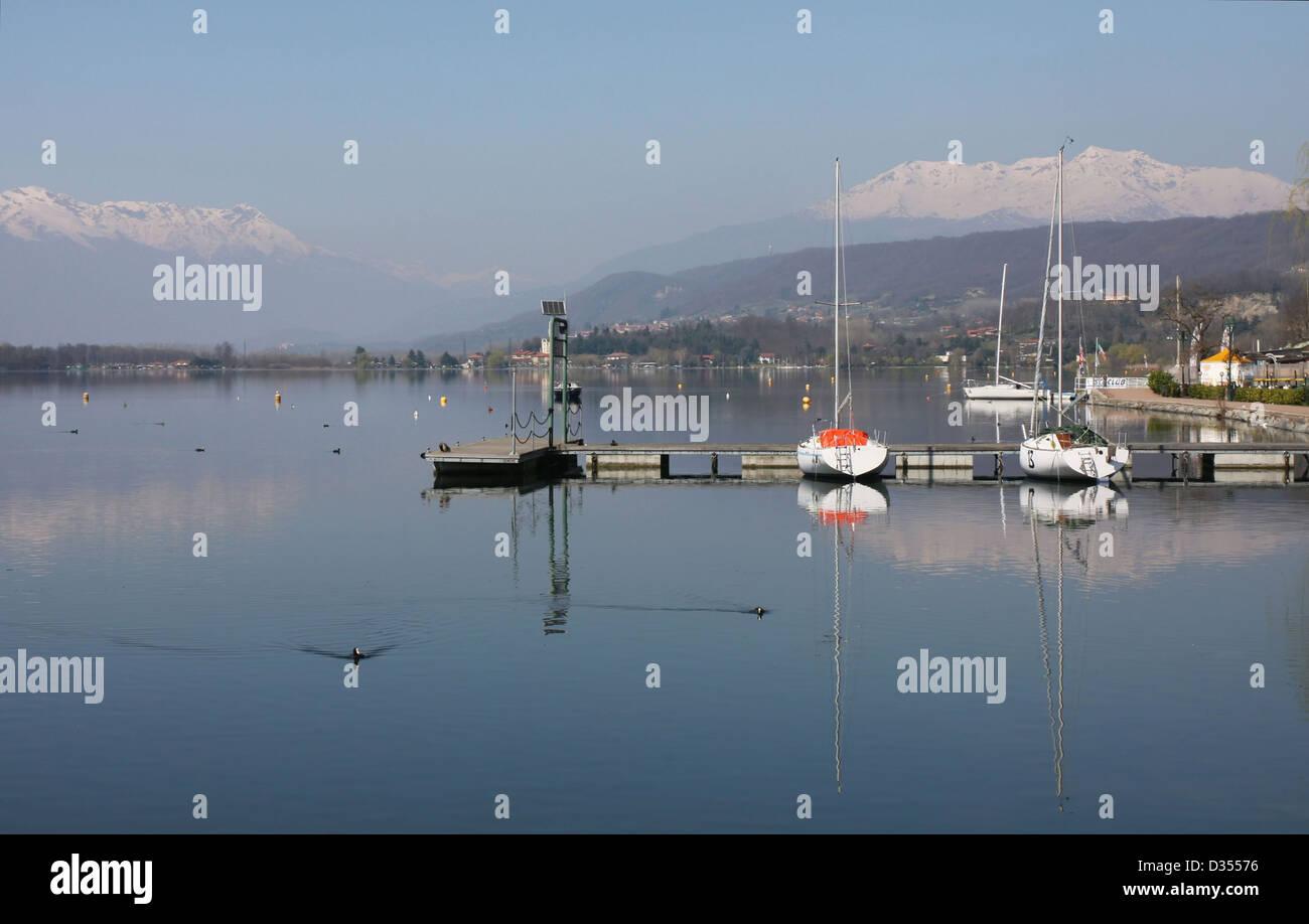 Italy, Piedmont (Piemonte) region, Viverone Lake - Stock Image