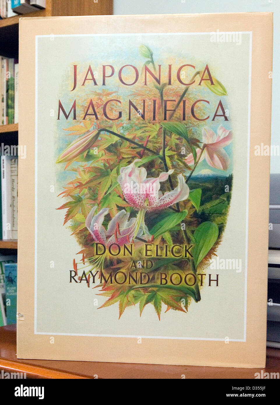 The plant reference book Japonica Magnifica. - Stock Image