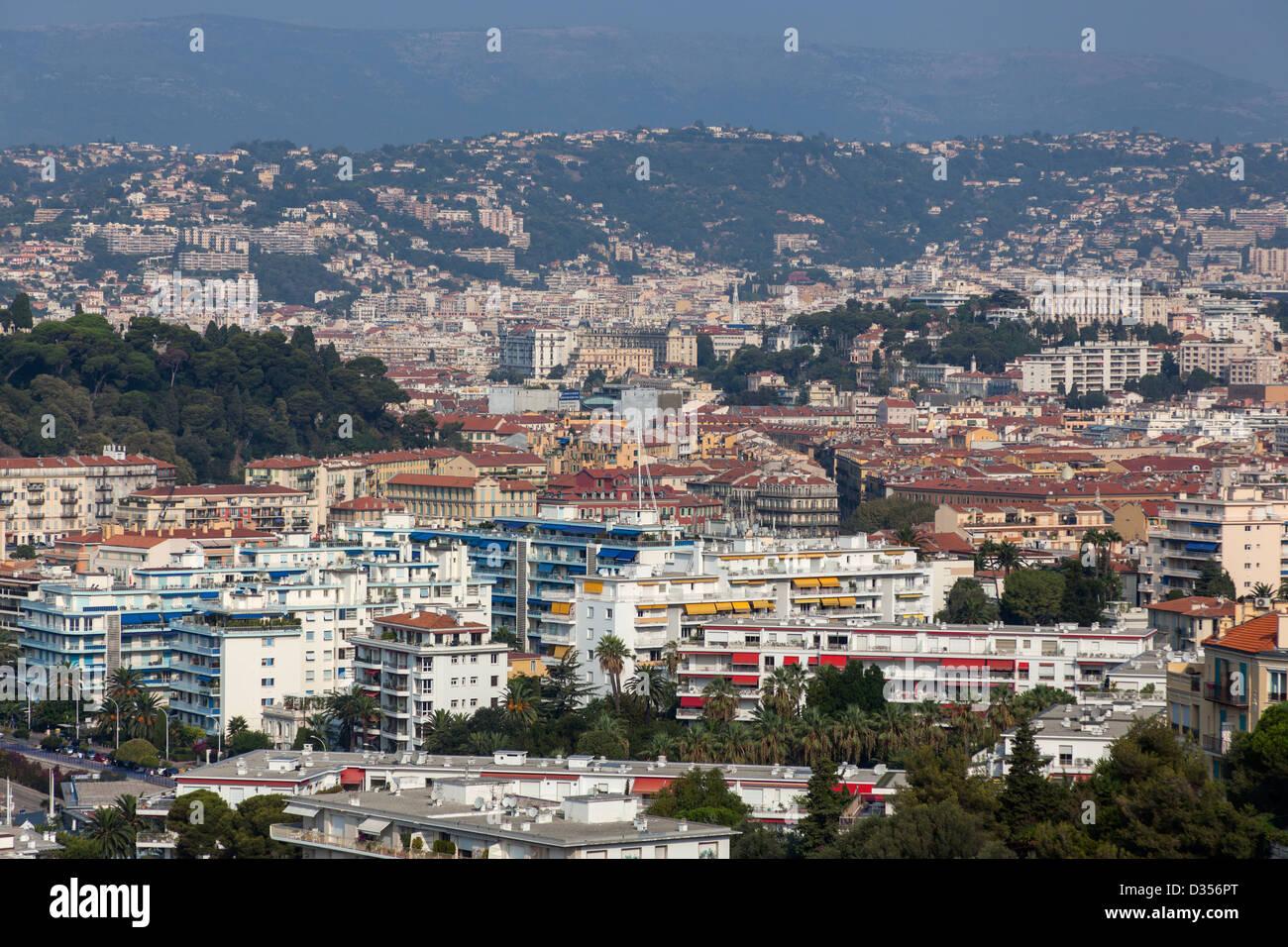 Nizza - Mediterranean City in Southern France - Stock Image