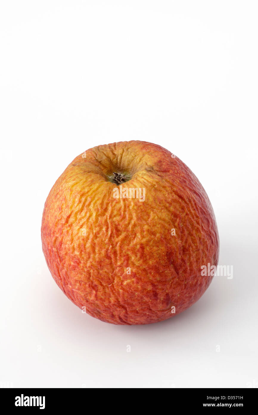 One wrinkly apple - Stock Image