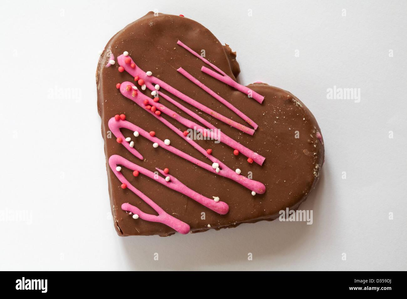 Valentine Chocolate Heart Cake Heart Shaped Cake Isolated On White