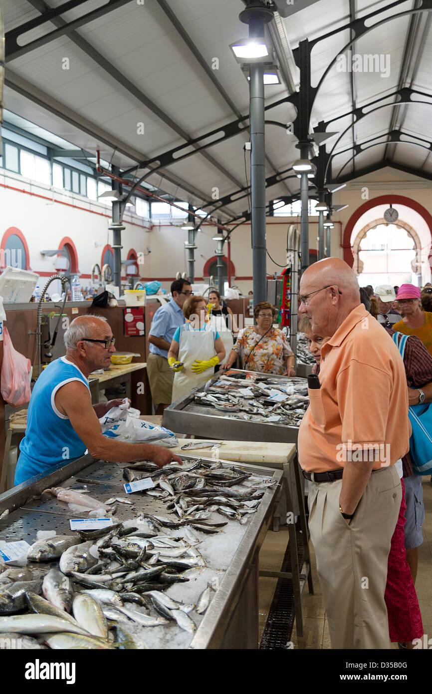 Loulé, Algarve,.Farmer's market in Loulé, Portugal. - Stock Image