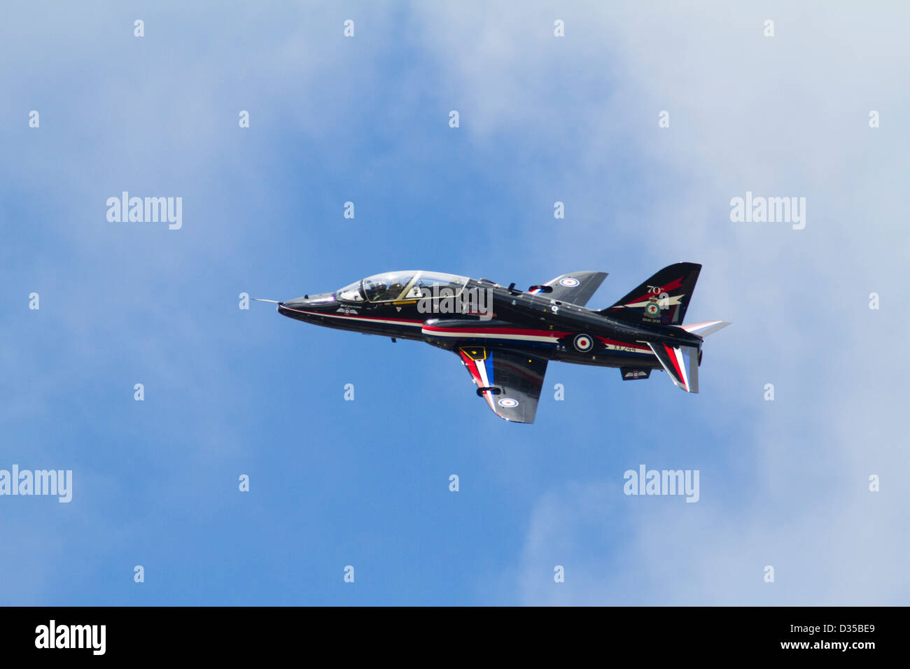 BAE Systems Hawk Trainer Aircraft in Flight - Stock Image