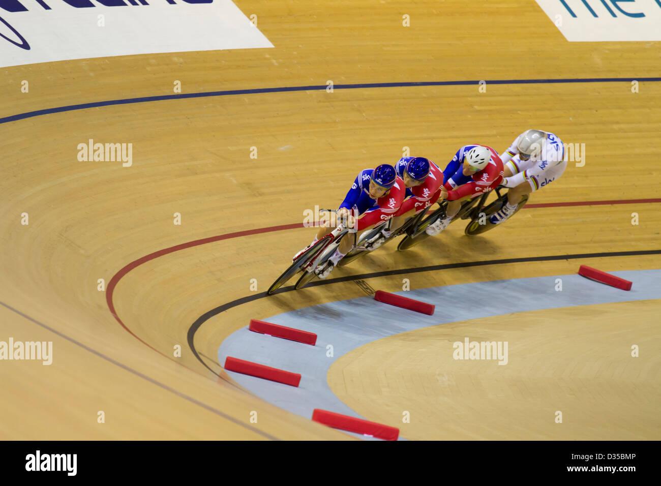 Great Britain men team pursuit racing - Stock Image