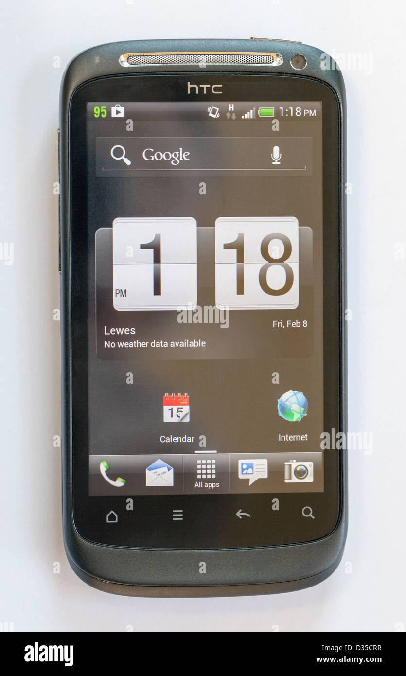 HTC Desire S Android mobile phone showing black home screen ... on quad mobile, superman mobile, sky mobile, apple mobile, blu mobile, claro mobile, honor mobile,
