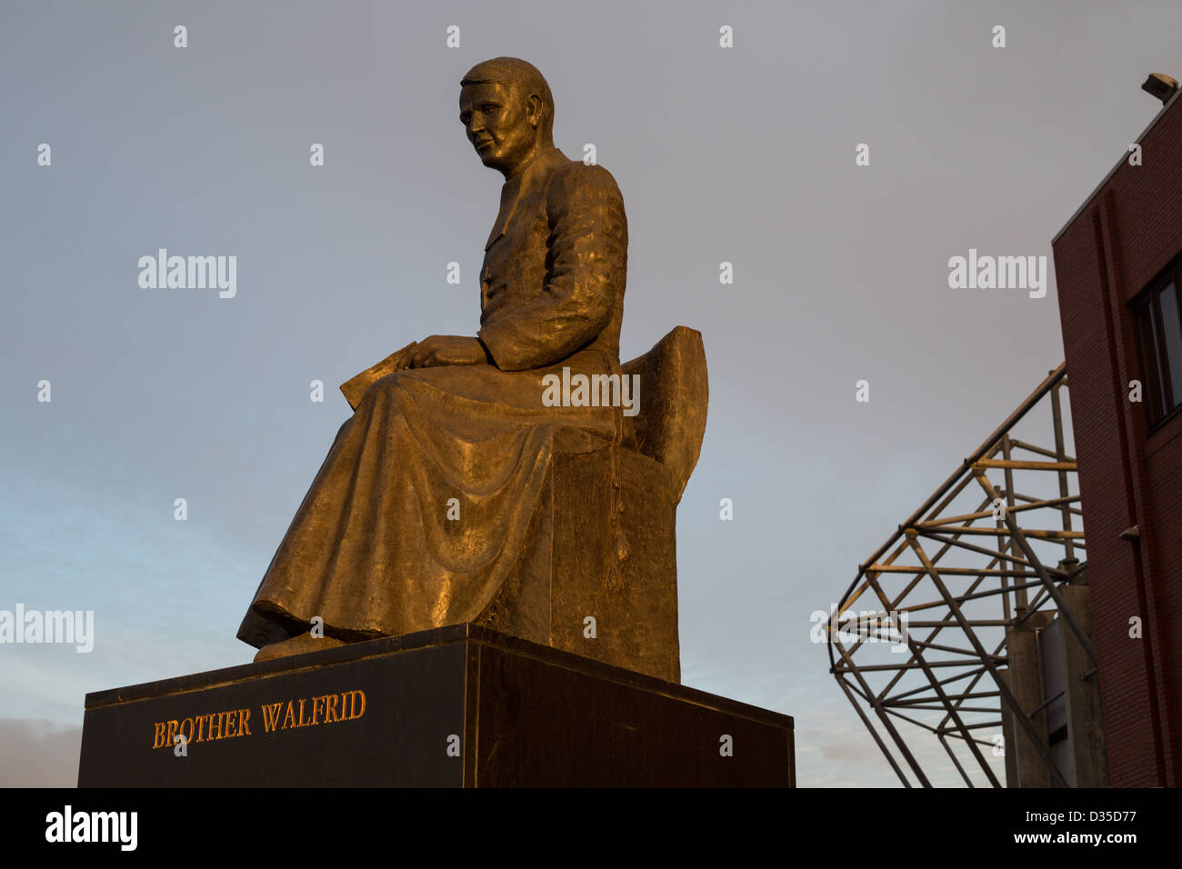 Statue of Brother Walfrid, (Andrew Kerins) outside Celtic Football Club, at Parkhead Stadium, Glasgow, Scotland. - Stock Image