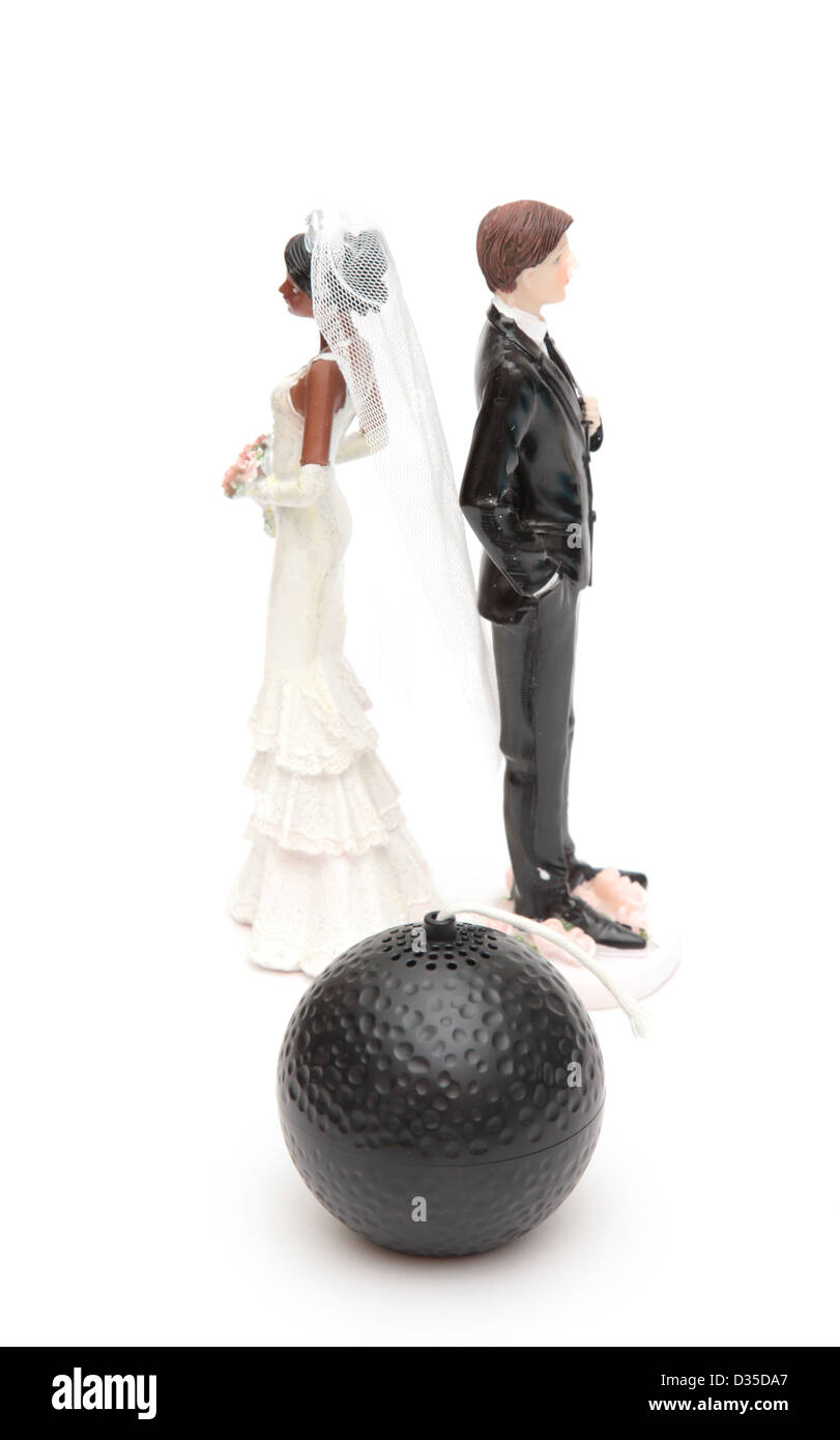 A couple with relationship problems - Stock Image