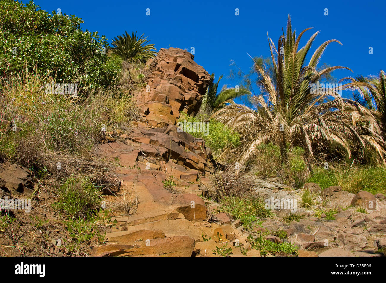 Dike in Tenerife - Stock Image