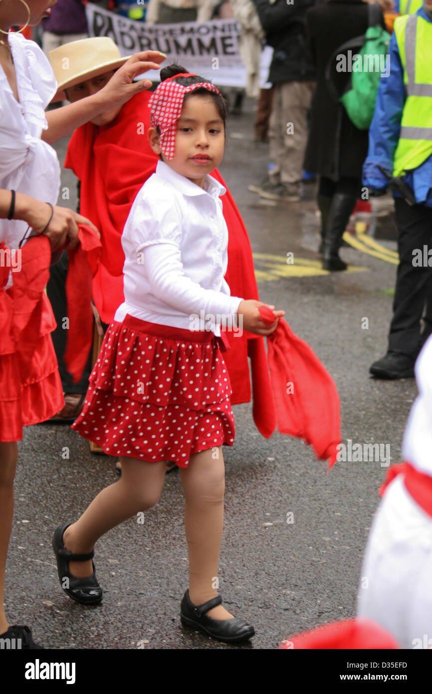 Chinese New Year parade in London - Stock Image
