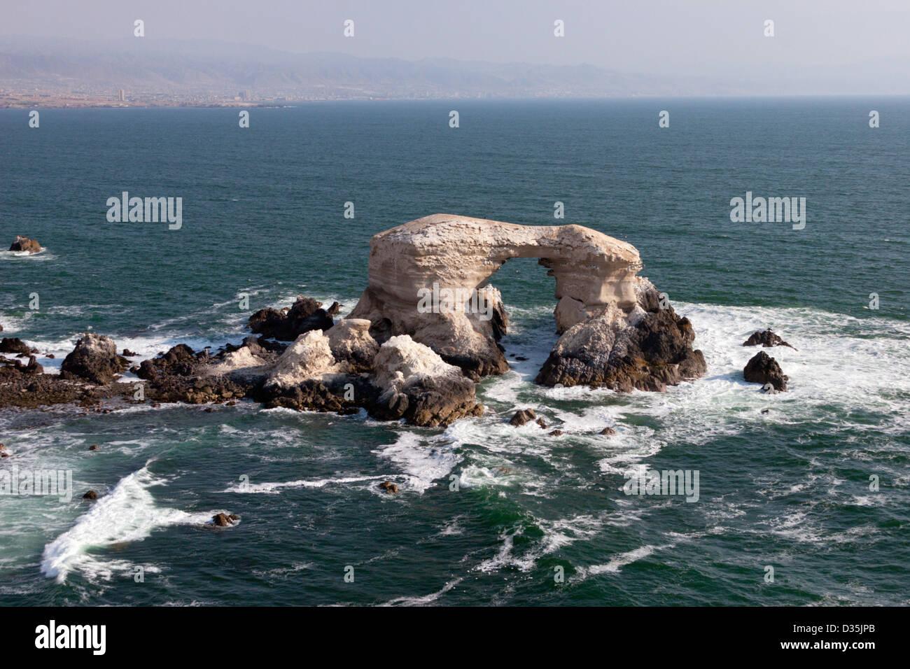 la Portada Antofagasta Chile coast natural formation landmark - Stock Image