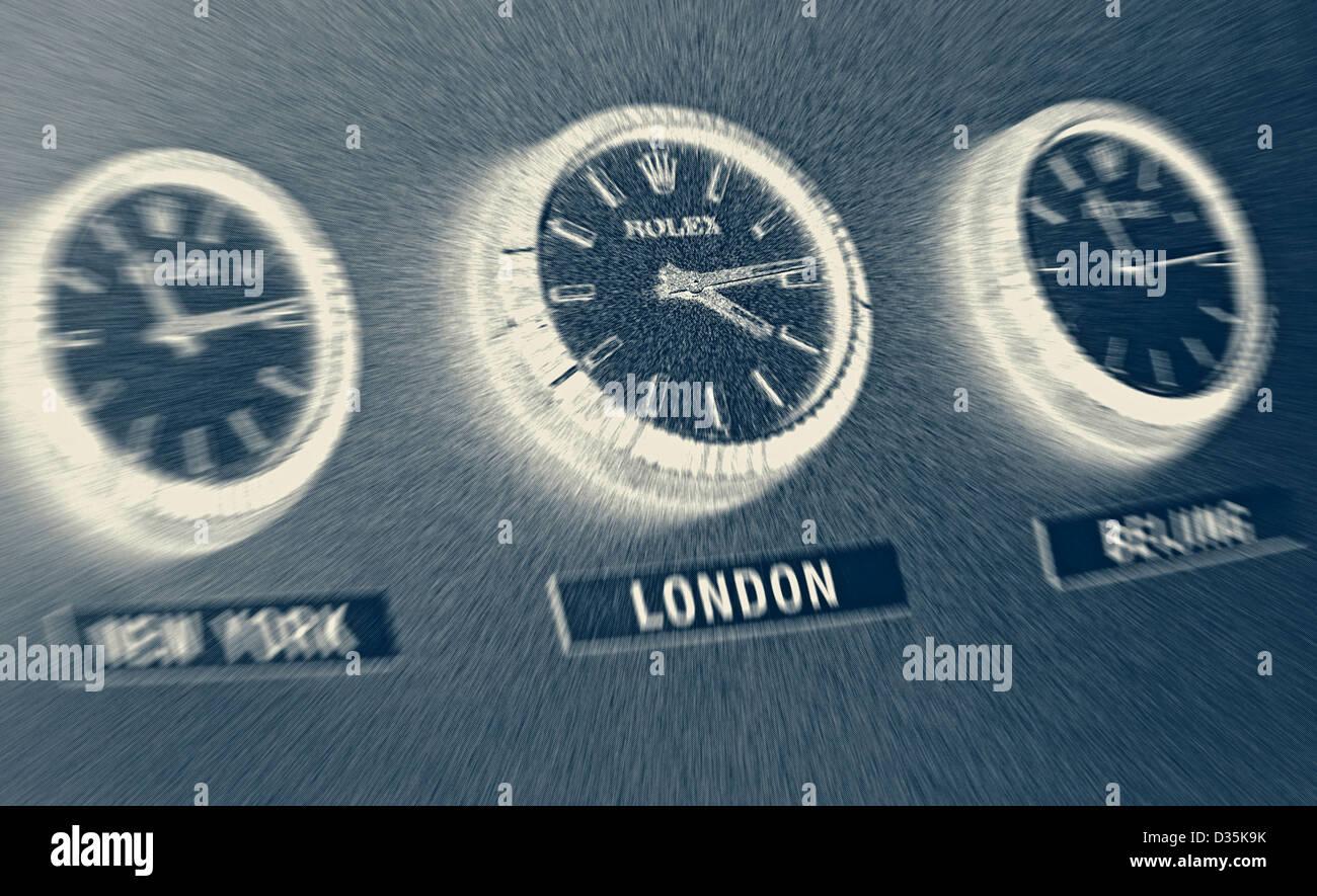 office wall clocks. Three Rolex Office Wall Clocks Showing Time Zones L-R New York, London, Beijing. M