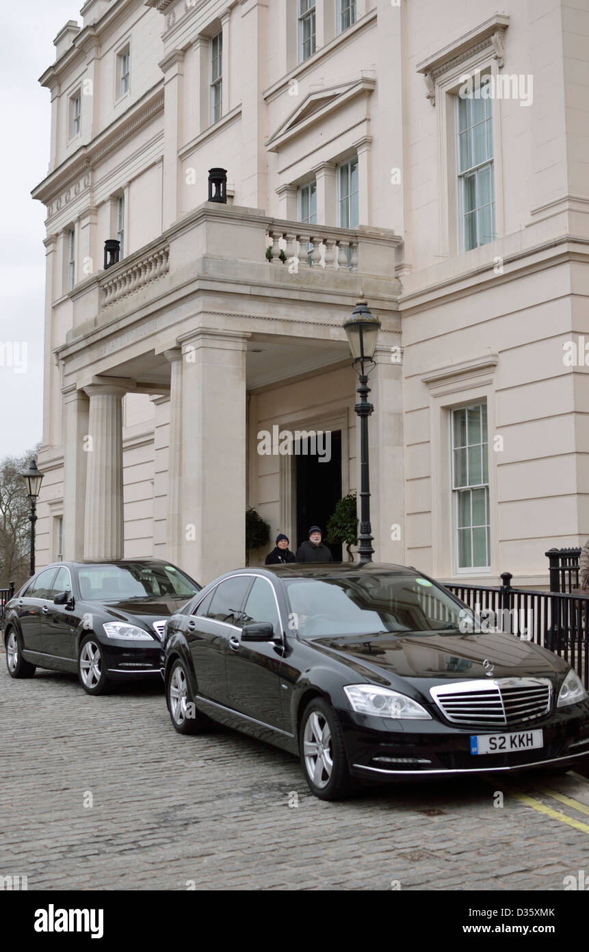 The Lanesborough Hotel at Hyde Park Corner, Knightsbridge, London - Stock Image