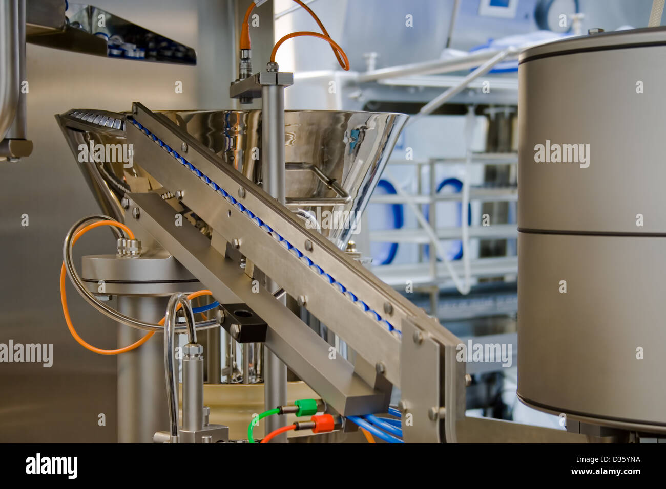 Production of medicines, part of a machine - Stock Image