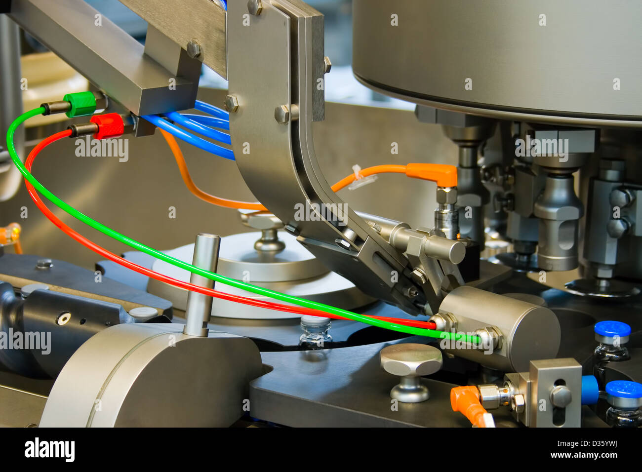 Production of medicines, part of a closing machine - Stock Image